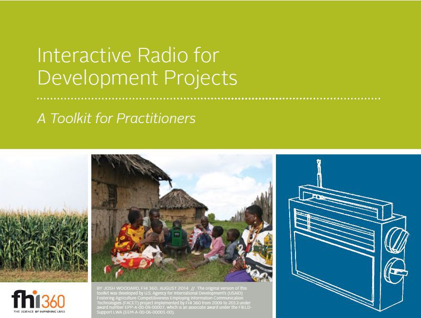 Cover page for Interactive Radio for Development Projects Toolkit