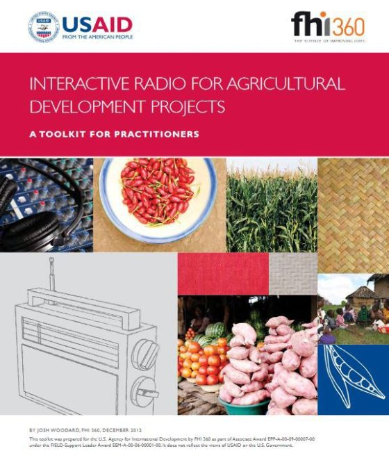 Cover page for Interactive Radio for Agricultural Development Projects Toolkit