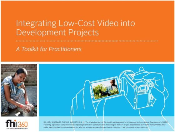 Cover page for Integrating Low-Cost Video into Development Projects Toolkit