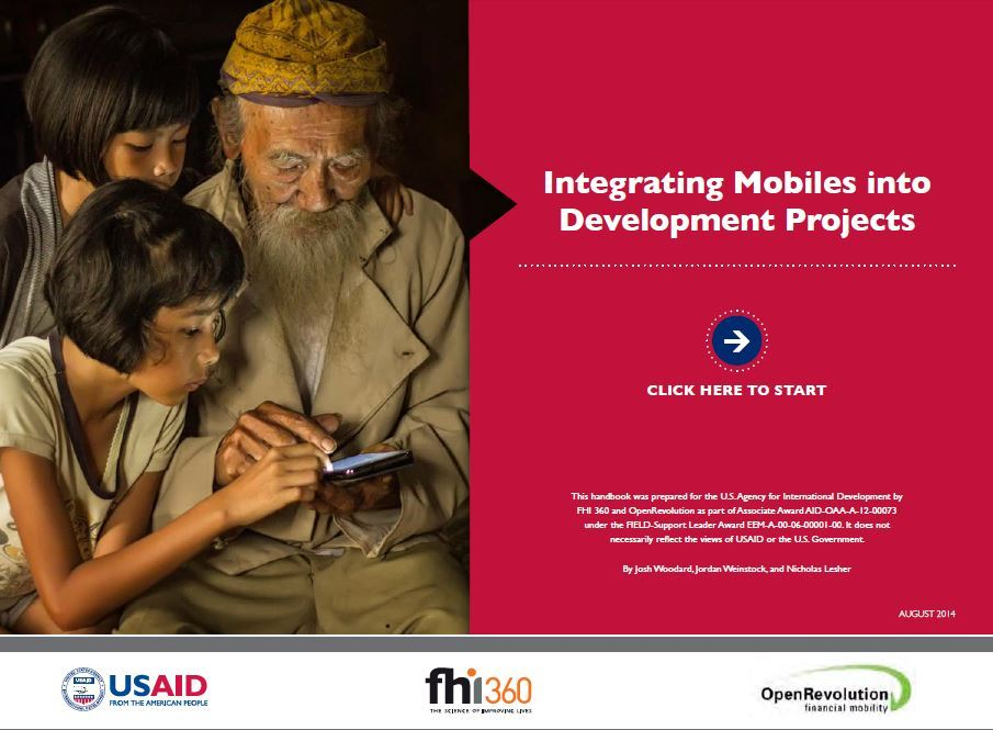 Cover page for Integrating Mobiles into Development Projects Handbook