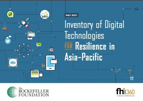 Cover page for Inventory of Digital Technologies for Resilience in Asia-Pacific
